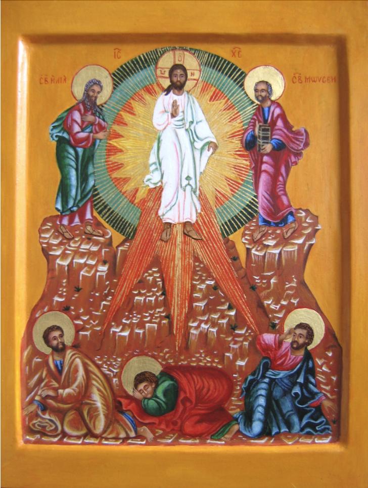 Jezus op de berg Tabor: gedaanteverandering